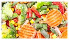 organic frozen vegetables in bulk packaging
